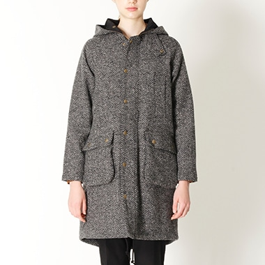 LDS SPEY COAT WOOL HERRINGBONE