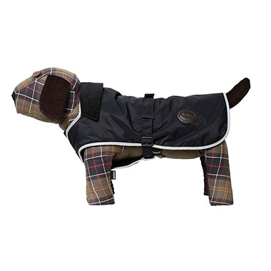 TARTAN FLEECE LINED DOG COAT