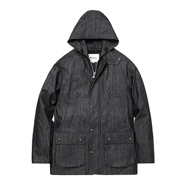 HOODED BEDALE SL DENIM