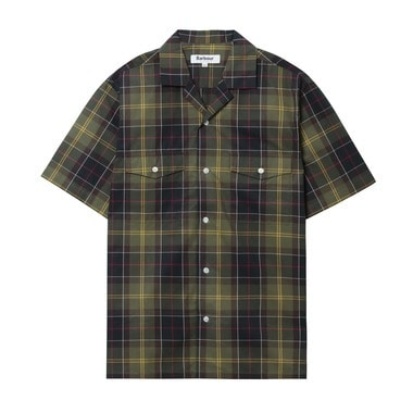 S/S OPEN COLLAR SHIRT CHECK