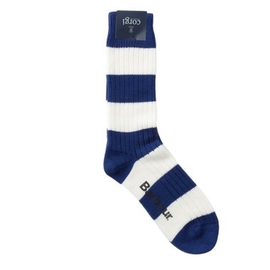 Corgi RUGBY SOCK WHITE LABEL