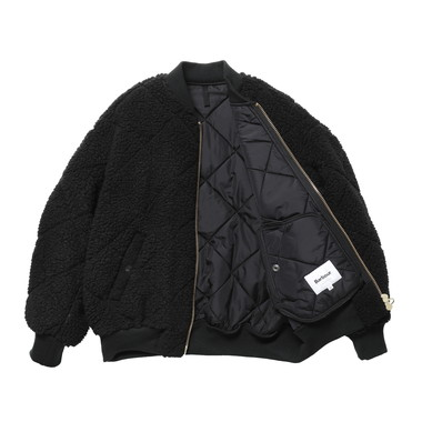 LADIES QUILTED BOMBER JACKET OS BOA