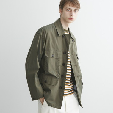 MILITARY JACKET C/N CHAMBRAY