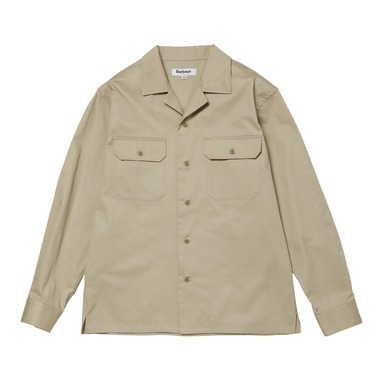 L/S OPEN COLLAR SHIRT DOUBLE PKT