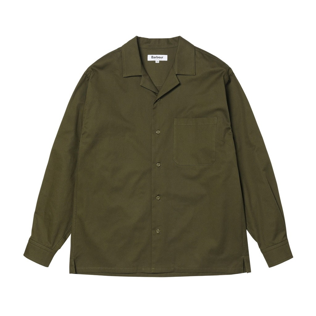 L/S OVERSIZED OPEN COLLAR SHIRT
