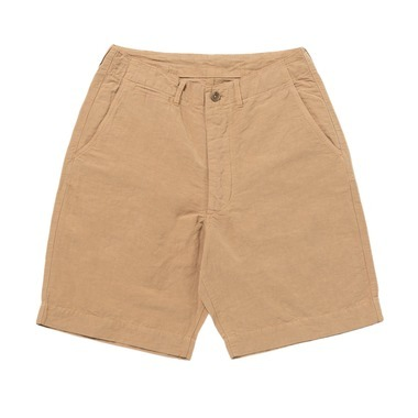 OVER DYE COTTON LINEN SHORTS