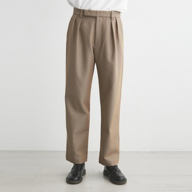 PLEATED TROUSERS CAVALRY TWILL